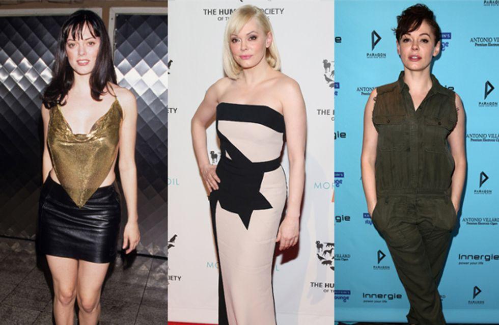 Rose McGowan : Son étonnante évolution fashion (Photos)