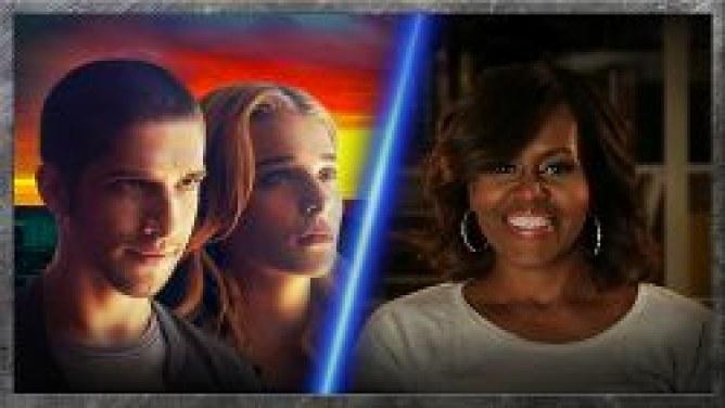 Michelle Obama lutte contre l'obésité en pariodant Divergente