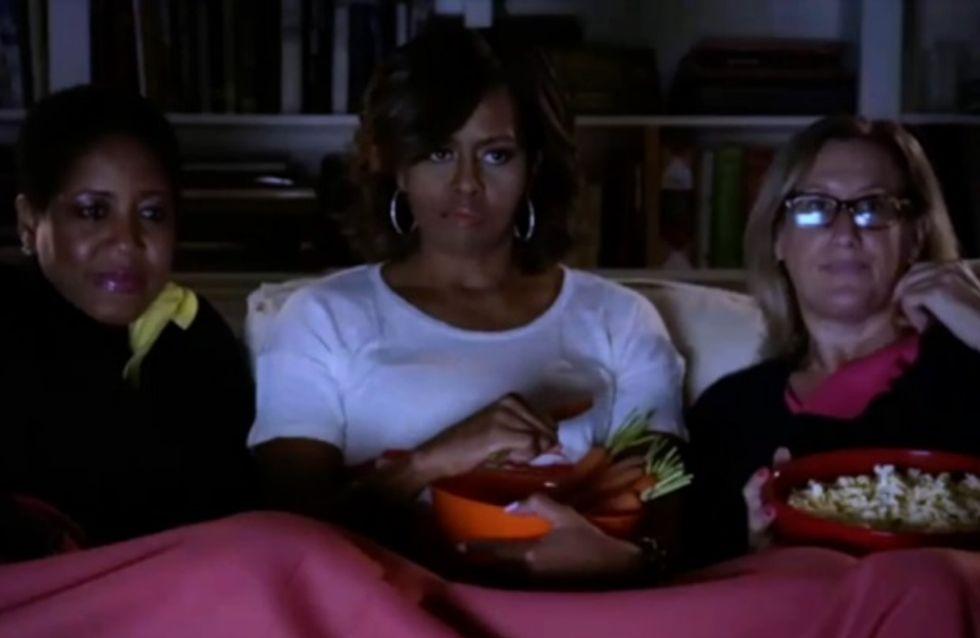 """Obésité : Michelle Obama, Chloë Moretz et Tyler Posey parodient """"Divergente"""" pour lutter contre la malbouffe (Vidéo)"""
