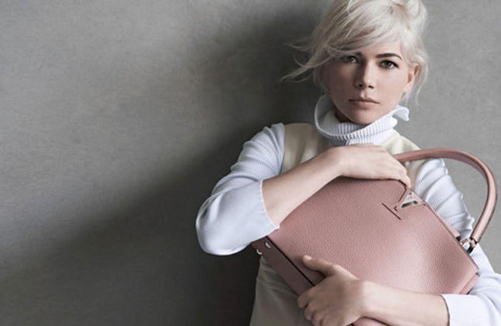 Michelle Williams : Rétro pour la nouvelle campagne Louis Vuitton