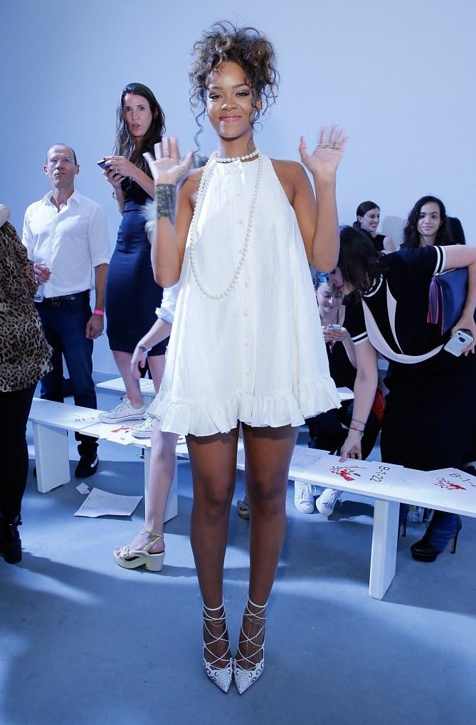 Rihanna le 5 septembre à la Fashion Week de New York