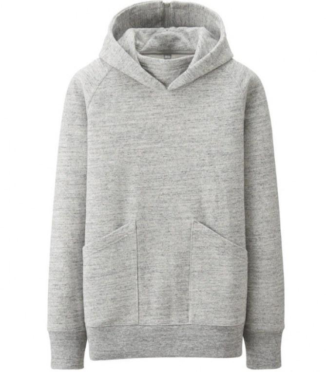 Sweat gris Helmut Lang x Uniqlo : 49,95 dollars