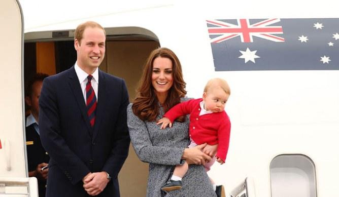 Kate, William e il piccolo George