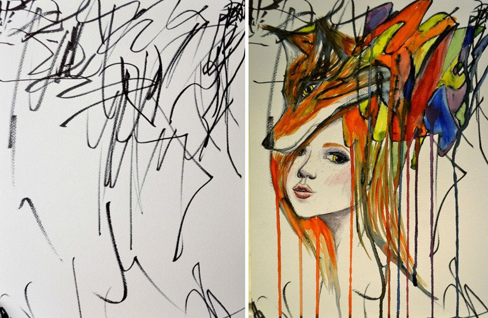This Mum Turns Her Daughter's Scribbles Into Incredible Art
