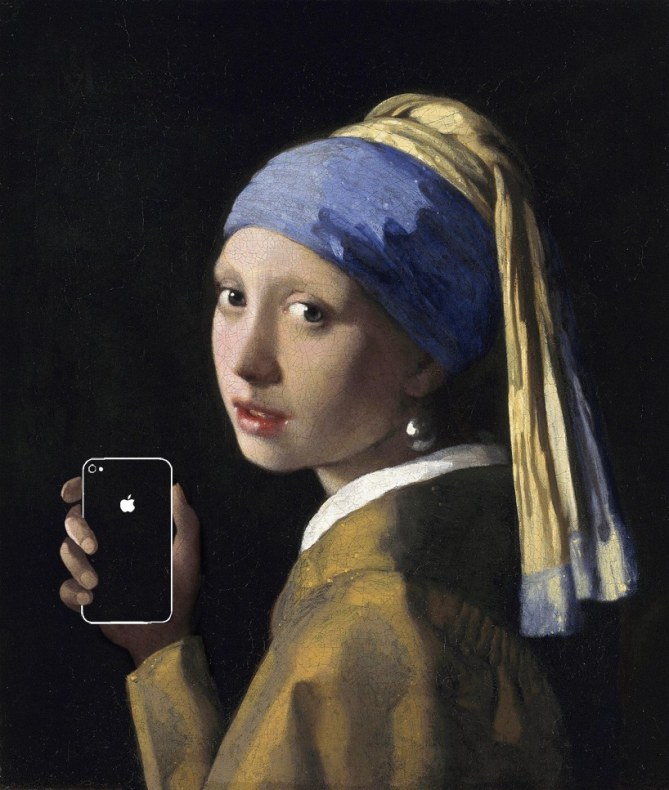 Girl With A Pearl Earring And An iPhone