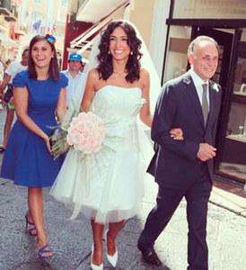 L'abito da sposa di Caterina Balivo