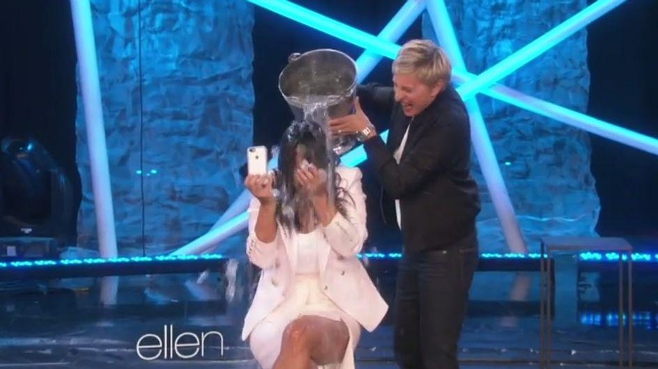 Kim Kardashian : Douche froide sur le plateau d'Ellen DeGeneres (Photos et vidéo)