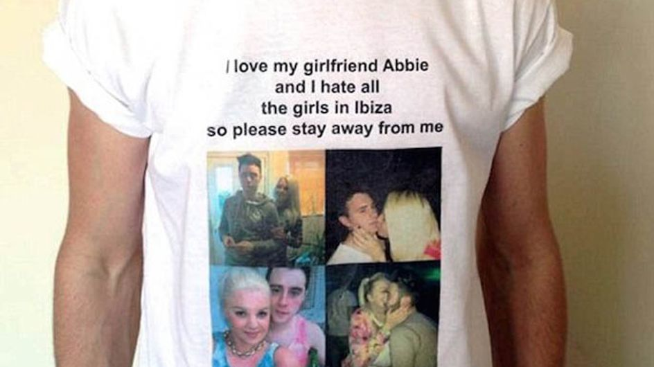 Girl Makes Her Boyfriend Wear Shirt On Holiday Telling Other Girls To Stay Away