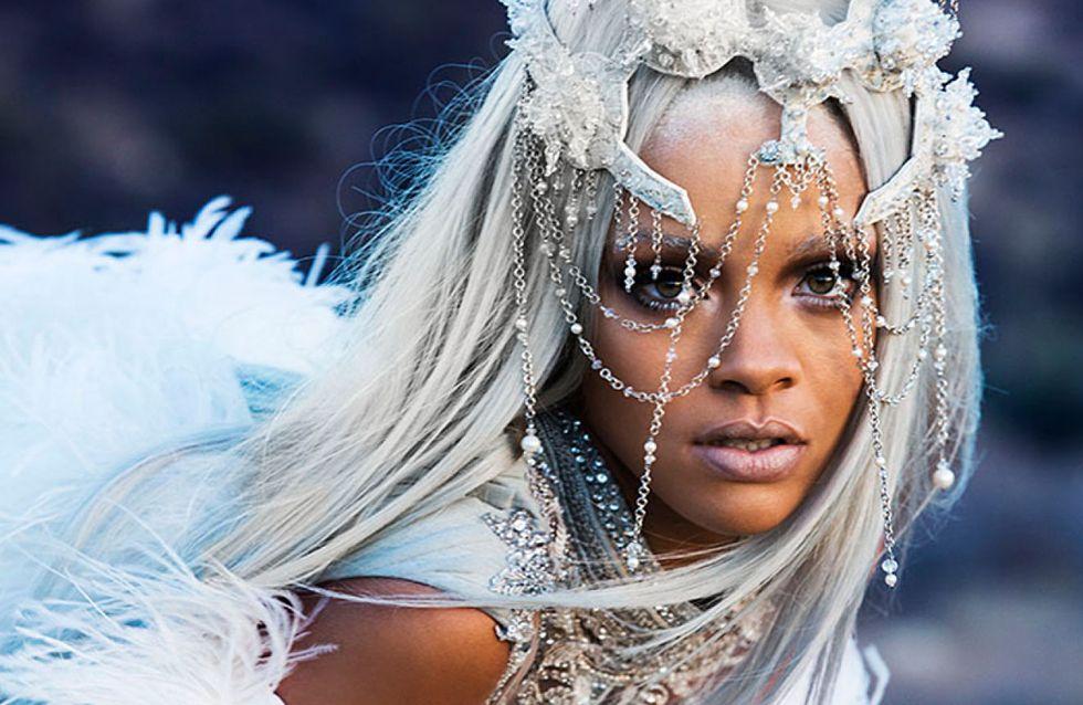 Rihanna : Cheveux et sourcils argentés pour Tush Magazine