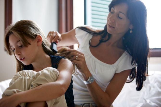 Une mère célibataire et sa fille