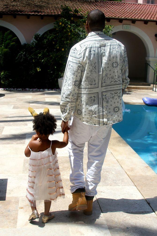Jay Z et Blue Ivy