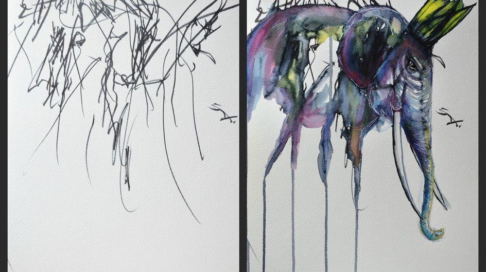 Une maman crée des œuvres d'art avec les dessins de sa fille (Photos et vidéos)