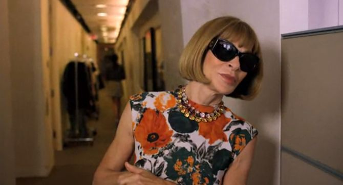 Anna Wintour pour l'interview Vogue