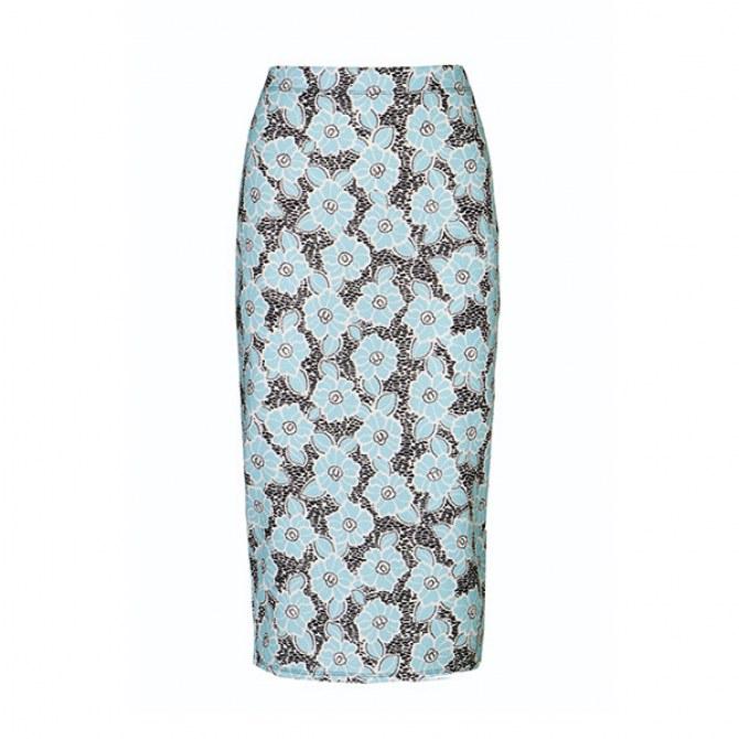 Floral Print Pencil Skirt - £12