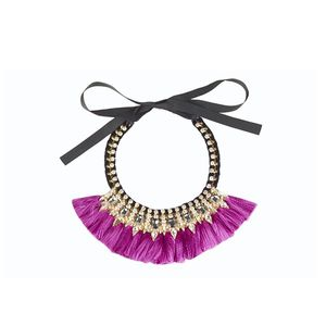 Pink Tassel Necklace - £18