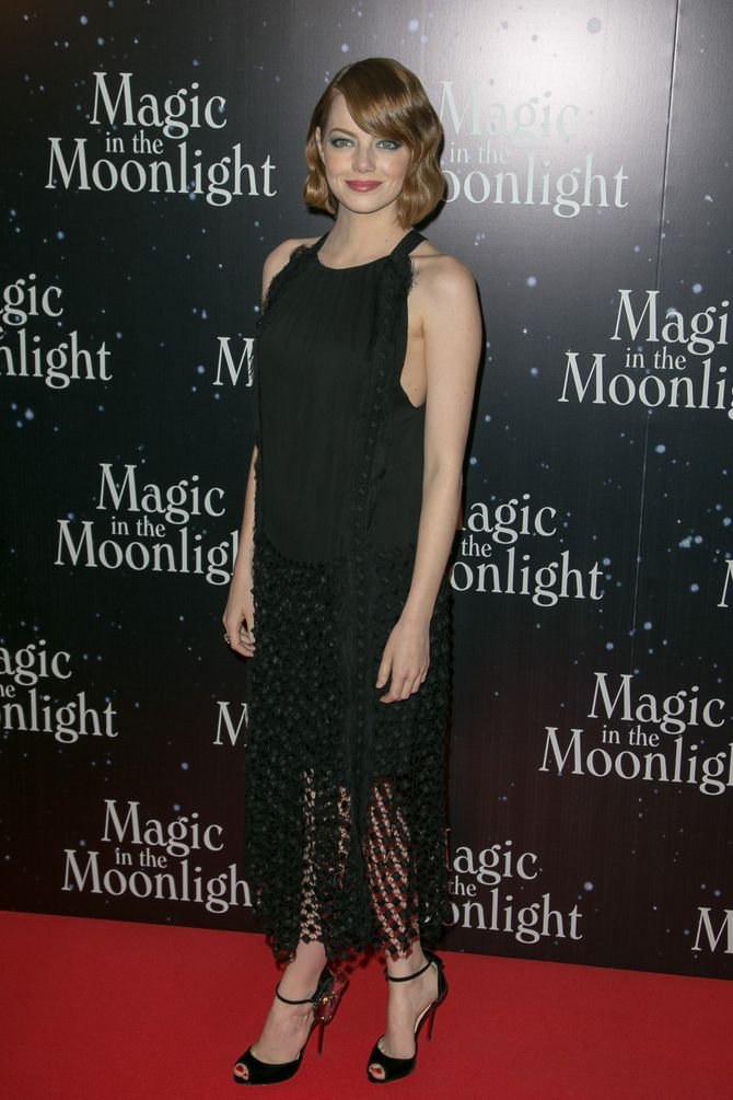 Emma Stone à l'avant-première parisienne de Magic in the Moonlight