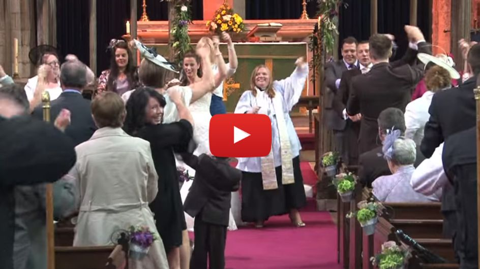 Celebrate Good Times! Wedding Ceremony Turns Into Church-Wide Flashmob