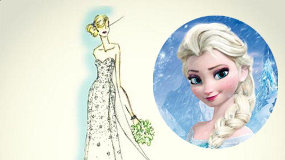 Se marier dans la robe de la Reine des neiges, c'est possible