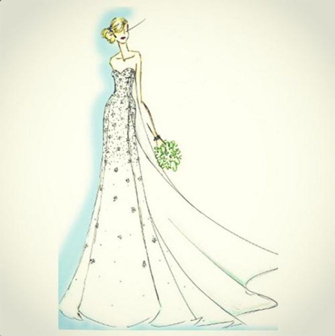 La robe de mariée façon Reine des neiges