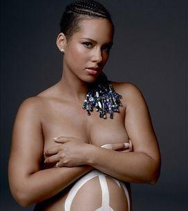 Alicia Keys : Enceinte et nue pour la bonne cause (Photos)