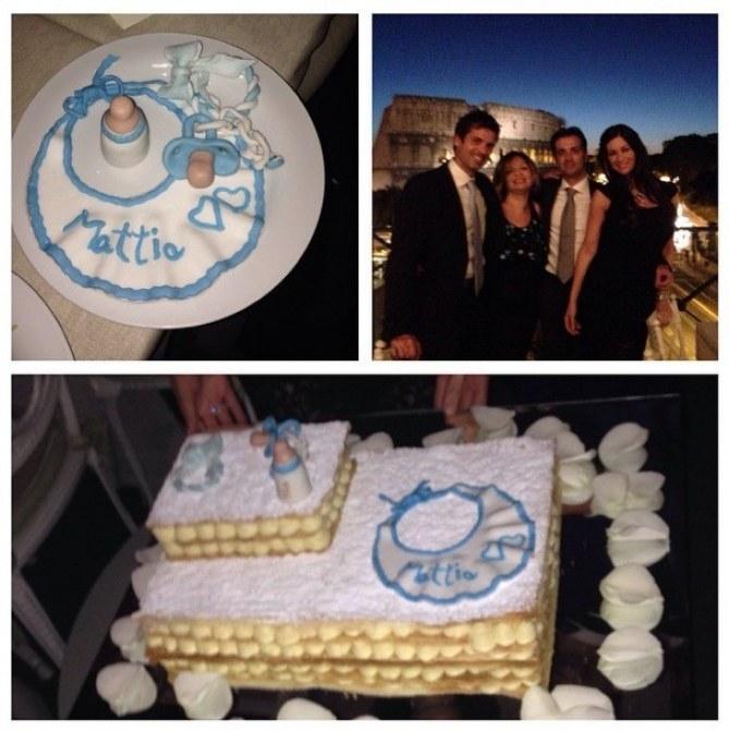 Alcune immagini del battesimo del piccolo Mattia