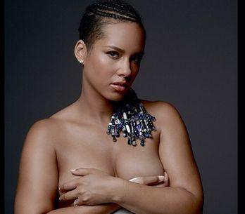 Alicia Keys posa desnuda y embarazada por una buena causa