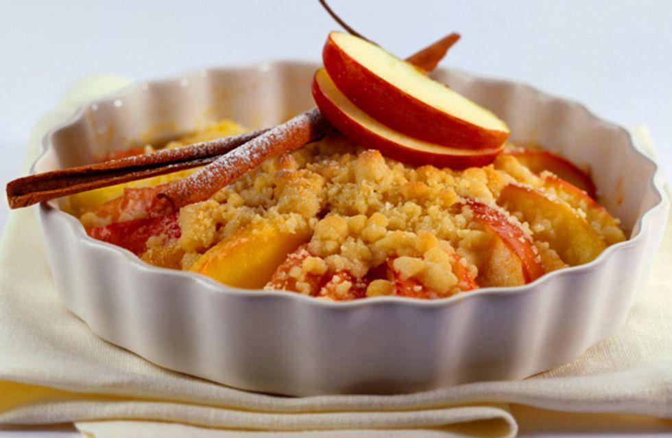 Warm, knusprig, fruchtig-süß: Von Apple Crumble bekommen wir nie genug!
