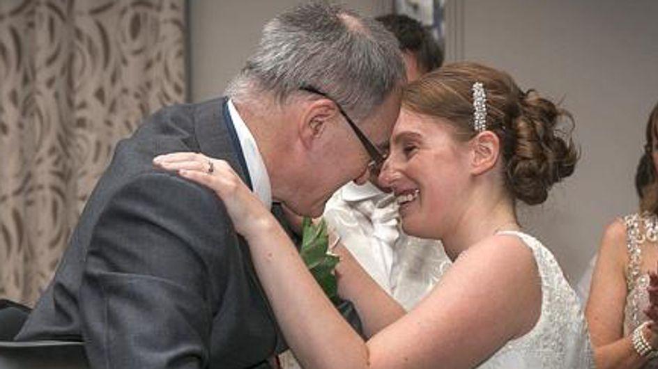 Un père tétraplégique réserve la plus belle des surprises à sa fille pour son mariage