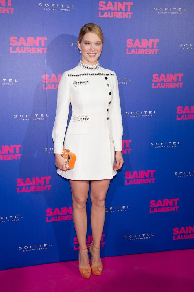 Léa Seydoux à la première de Saint Laurent le 23 septembre 2014