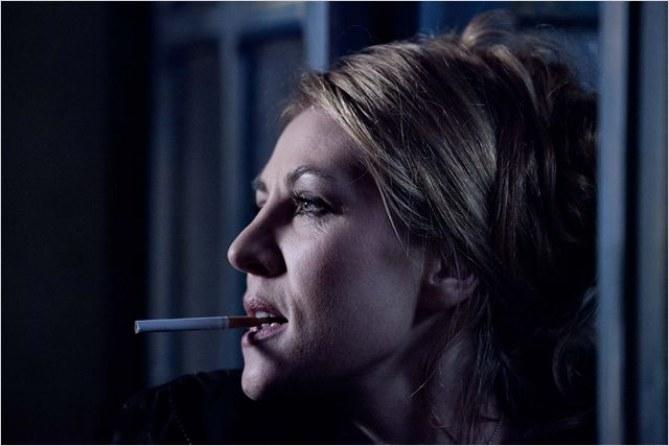 La comédienne Mathilde Seigner