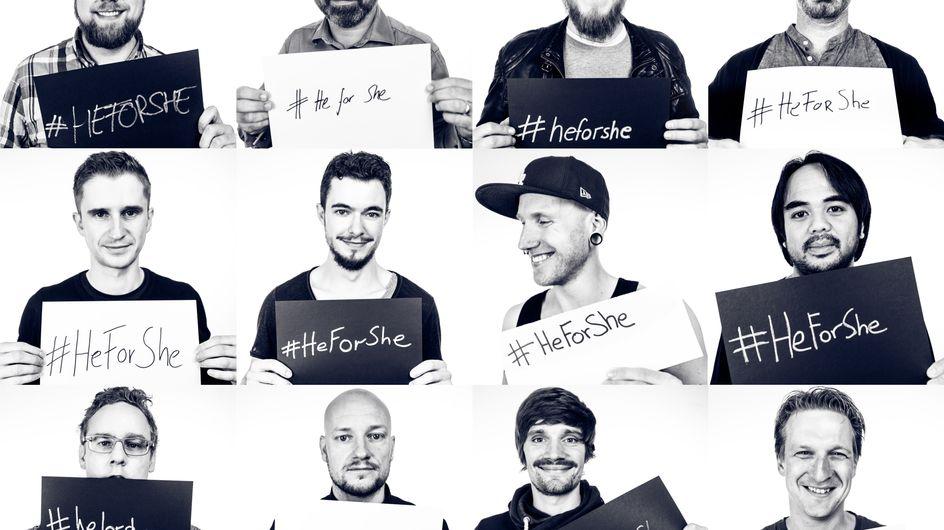 Die Jungs von gofeminin zeigen sich mit uns solidarisch und fordern mehr Gleichberechtigung!