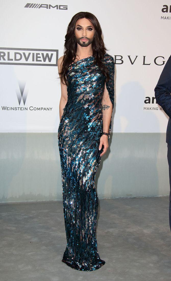 Conchita Wurst au gala AMFAR's
