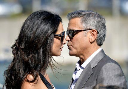 George Clooney et Amal Alamuddin à Venise, le 26 septembre 2014