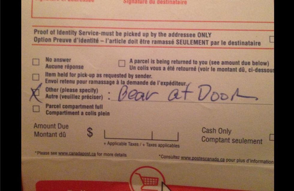 Das ist die beste Ausrede eines Postboten ever! Ever, ever!!