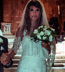 L'abito da sposa di Elisabetta Canalis come non l'avete mai visto. Le immagini!