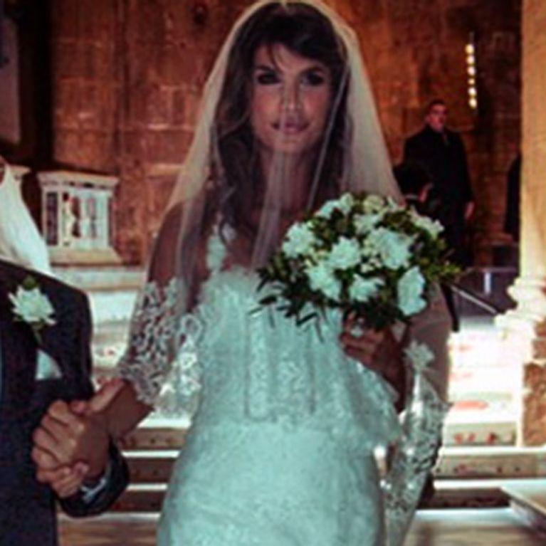 ec5715e62950 L abito da sposa di Elisabetta Canalis come non l avete mai visto. Le  immagini!