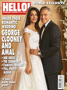 Amal Alamuddin e George Clooney nel giorno delle nozze