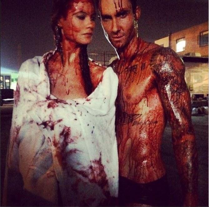 Le couple pendant le tournage