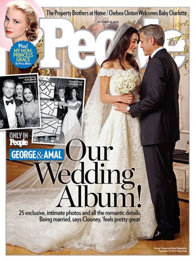 Voici la Une du magazine People.