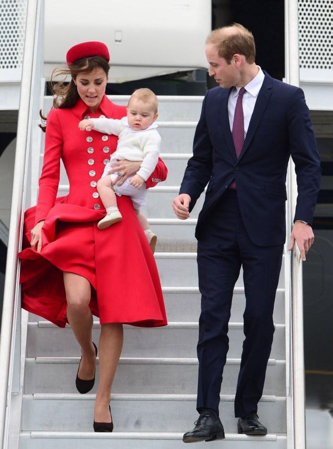 Kate Middleton e William con il piccolo George