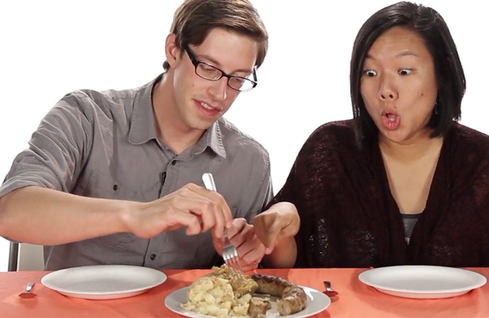 Lustig! Diese Amerikaner probieren zum ersten Mal deutsches Essen!