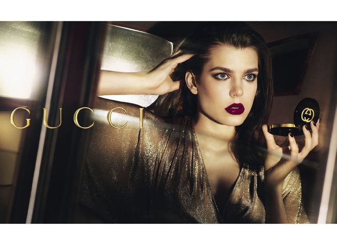 Charlotte Casiraghi pour Gucci Cosmetics