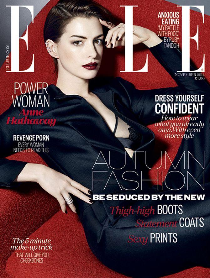 Anne Hathaway pour ELLE UK