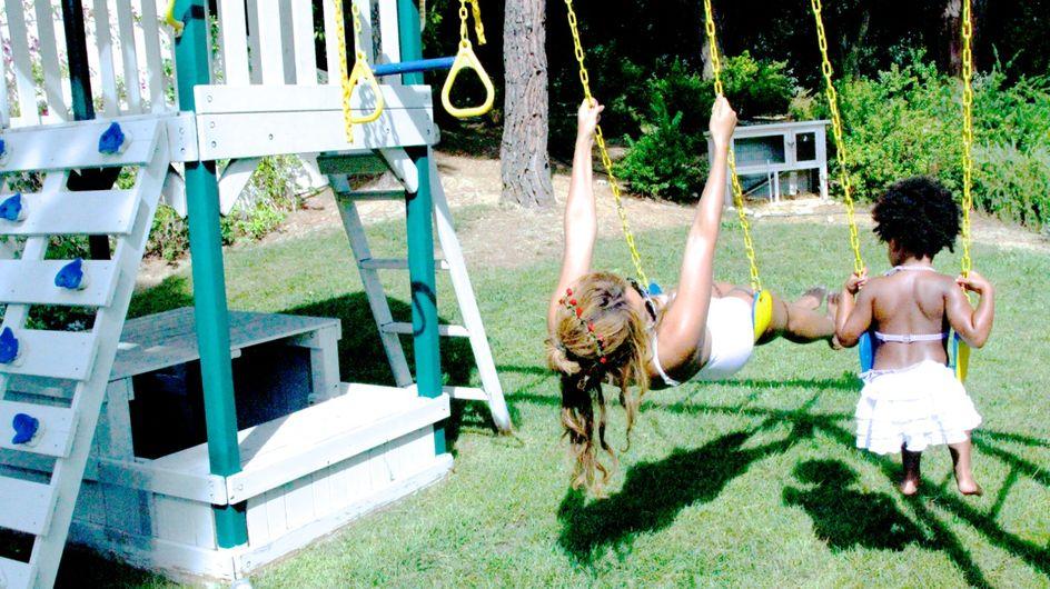 Beyoncé s'amuse avec sa petite Blue Ivy (Photos)