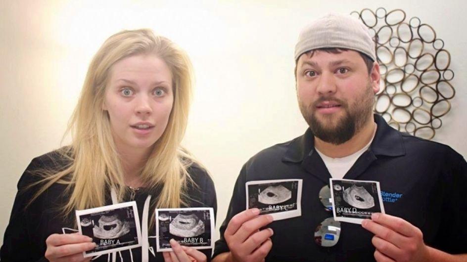 Ces parents attendent des quadruplés et leur réaction est à ne pas manquer ! (Photos)