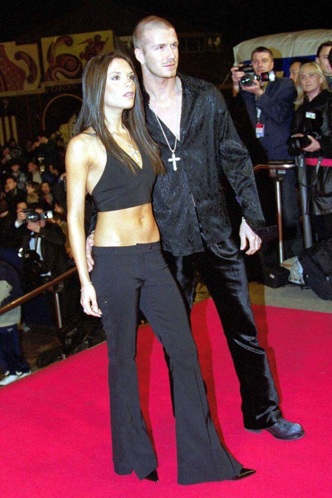 Victoria Beckham en pantalon taille basse