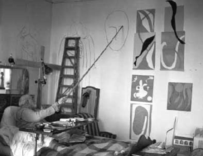 Le bureau d'Henri Matisse, à l'image du pragmatisme du propriétaire.