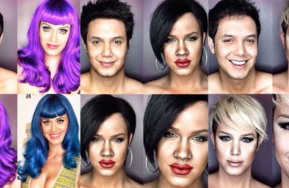 Woah! This MAN Uses Makeup To Transform Himself Into Katy Perry, Rihanna & Beyonce