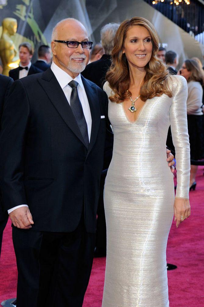 René Angélil et sa femme Céline Dion