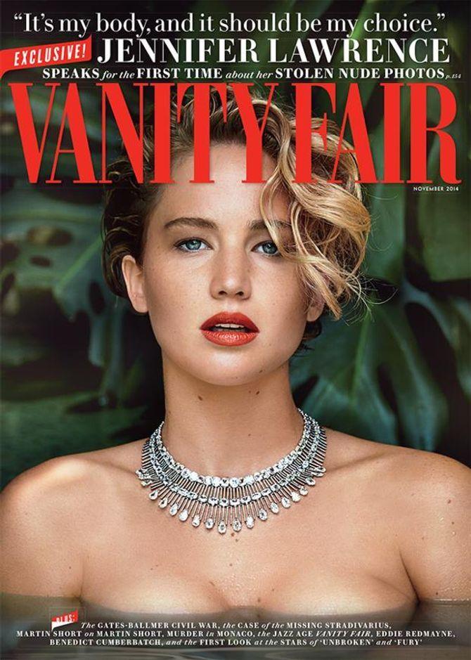Voici Jennifer Lawrence en Une du Vanity Fair US.